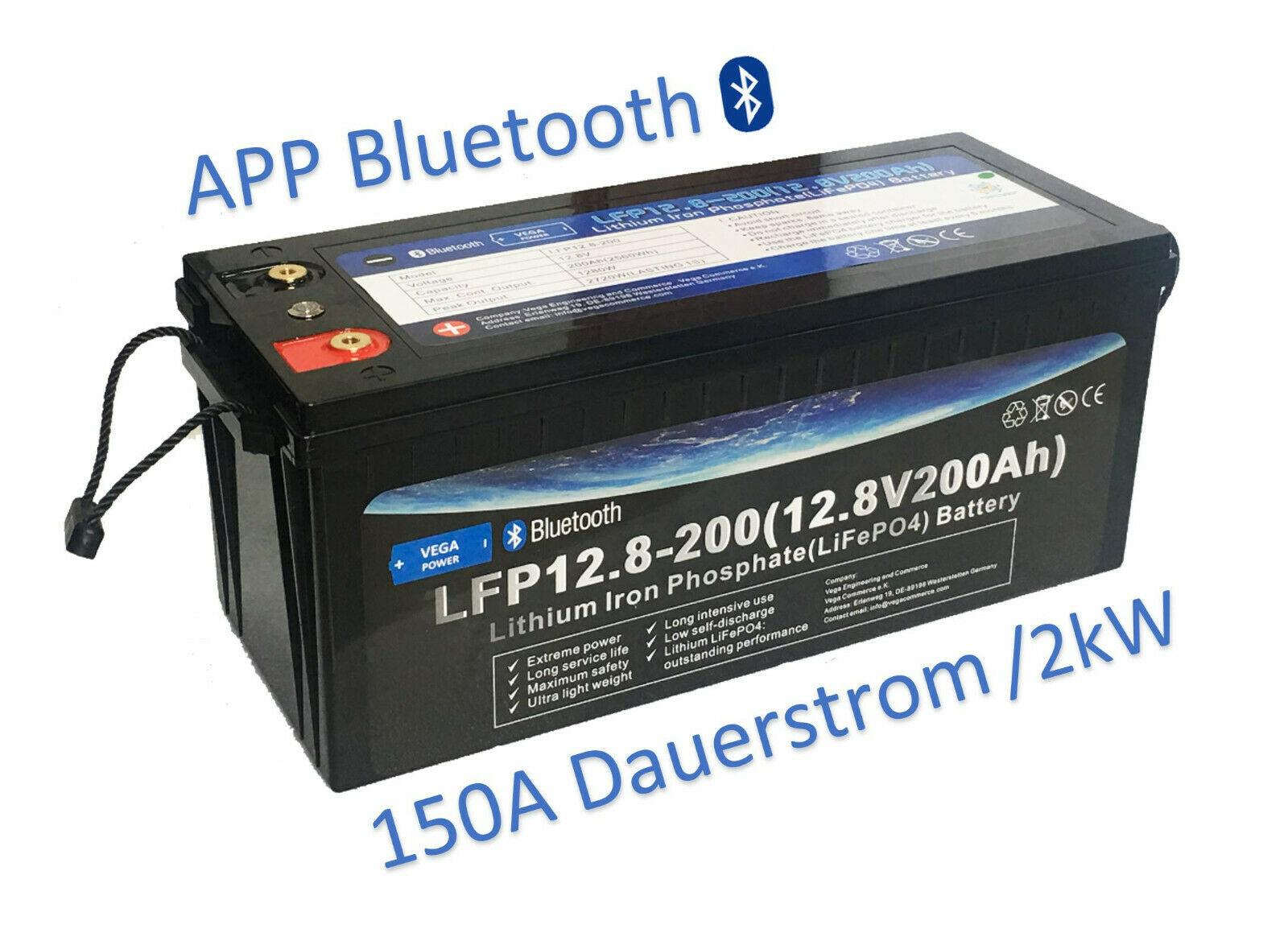 12V-200Ah-LiFePO4-Lithium Eisen Phosphat-Akku-Wohnmobil-Wagen