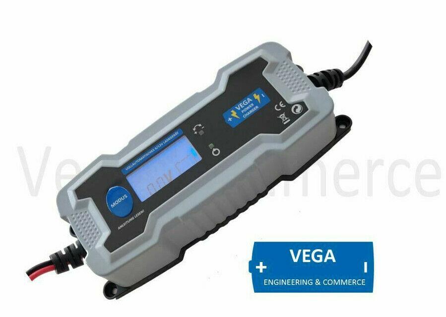 Vega Power Charger Batterie Ladegerät 12V 6V 4A GEL WET AGM Motorrad