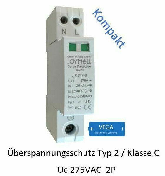 Überspannungsableiter Blitzschutz Überspannungsschutz 2p 20-40kA C II 275VAC CT-C