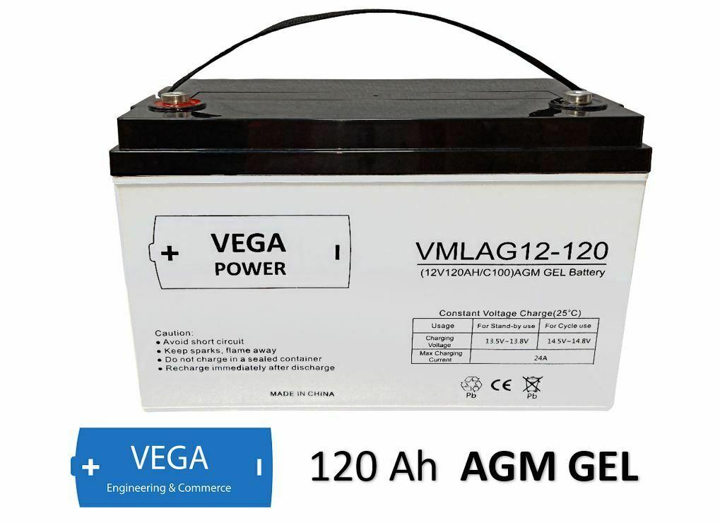 12V 120Ah AGM Batterie Akku Vega Power