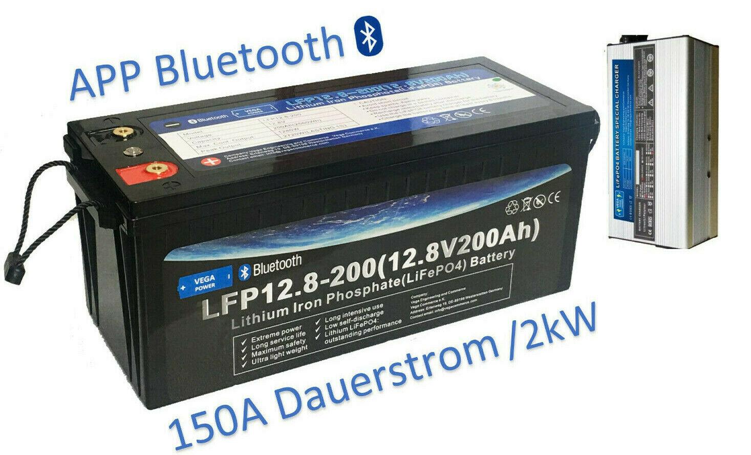 "12V-200Ah-LiFePO4-Lithium Eisen Phosphat-Akku-Wohnmobil-Wagen ""Starter Pack"""