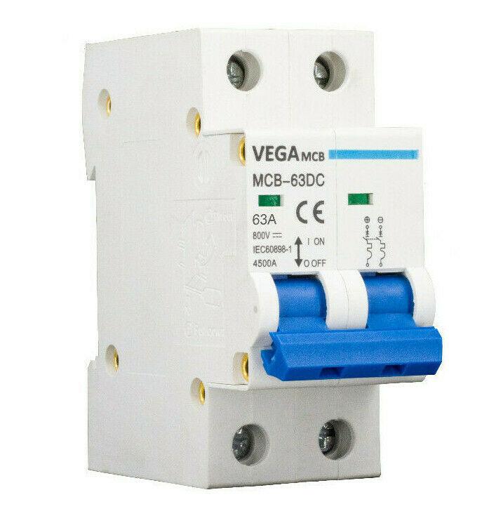 DC-Breaker / DC-Trennschalter VEGA MCB 63 - 800V 2P 63A