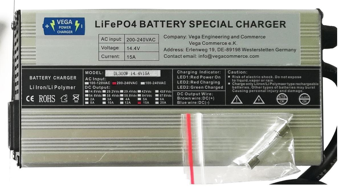 Vega Power Charger  20A 12,8V  Batterieladegerät  Lithium LiFePO4