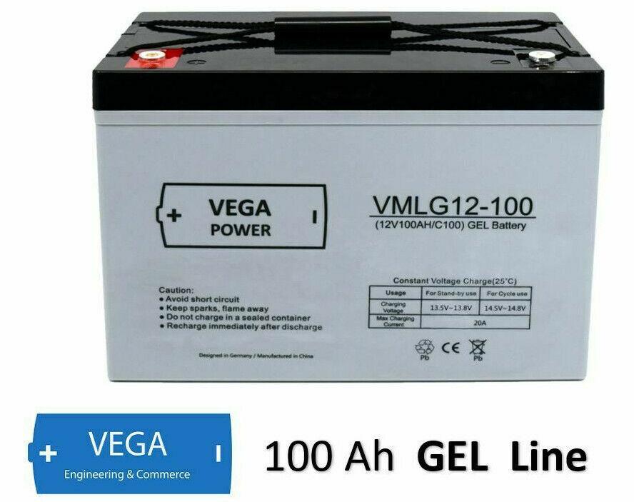 12V 100Ah C100 GEL Batterie Akku Vega Power